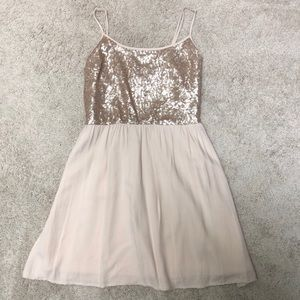 Blush Pink Formal Short Dress